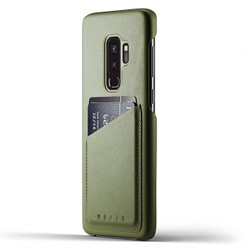 Mujjo Full Leather Wallet Case Samsung Galaxy S9+ Plus - Olive