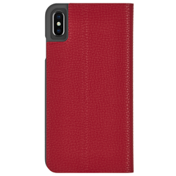 Case-Mate Barely There Folio Case iPhone Xs Max - Cardinal