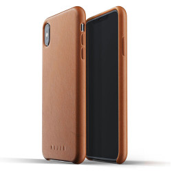 Mujjo Full Leather Case iPhone Xs Max - Tan