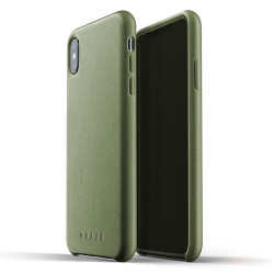 Mujjo Full Leather Case iPhone Xs Max - Olive