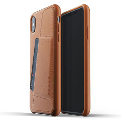 Mujjo Full Leather Wallet Case iPhone Xs Max - Tan