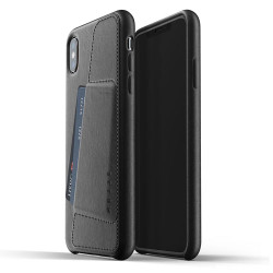 Mujjo Full Leather Wallet Case iPhone Xs Max - Black