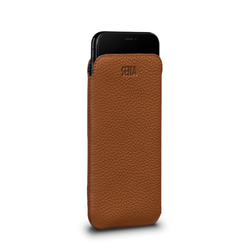 SENA Ultraslim Classic Leather Sleeve Pouch iPhone XR - Tan