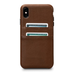 SENA Deen Snap-on Wallet Case iPhone Xs Max - Brown