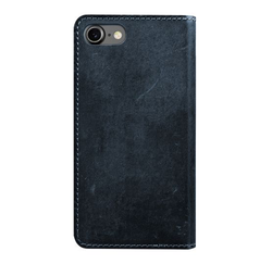 Nomad Horween Leather Folio Wallet iPhone 8/7 - Midnight Blue