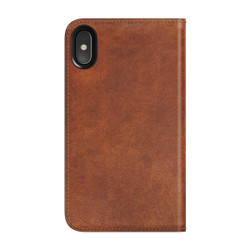 Nomad Horween Leather Folio Case iPhone X/Xs - Rustic Brown