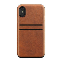 Nomad Horween Leather Wallet Case iPhone X/Xs - Rustic Brown