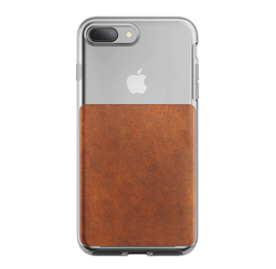 Nomad Horween Leather Clear Case iPhone 8+/7+ Plus - Rustic Brown