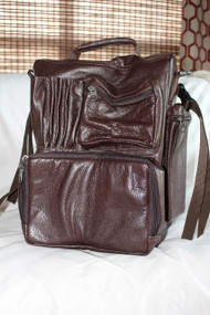 RV Flight Bag in brown leather