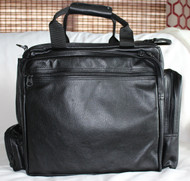 Ultimate Flight Bag shown in black leather