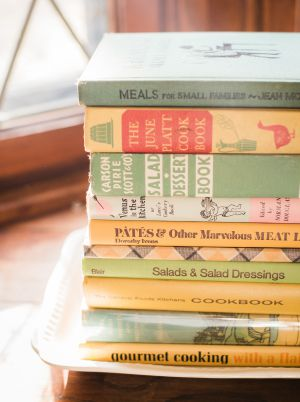 Vintage cookbooks: Pates and other marvelous meat, venus in the kitchen, meals for small families etc