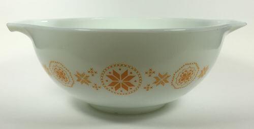 Vintage Pyrex Cinderella Bowl White Orange Town Country 443 2 1/2 QT