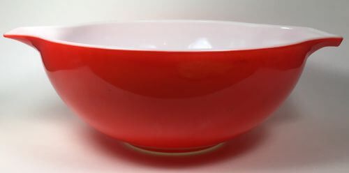 Pyrex Large Cinderella Bowl Red 444 4 QT - Vintage Grace