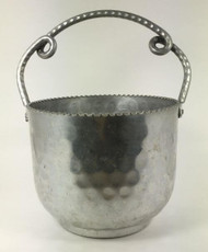 Vintage Ice Bucket Hammered Aluminum