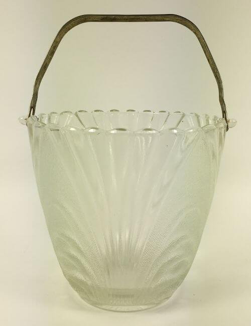 Vintage Art Deco Glass Ice Bucket