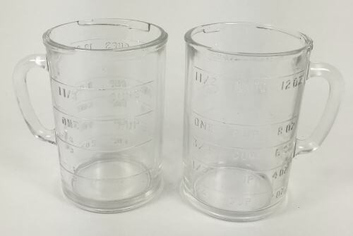 Vintage Glass Measuring Blender Chopper Container Cups Pamco