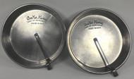 Vintage Bake King Pie Plates Pans Slider Embossed