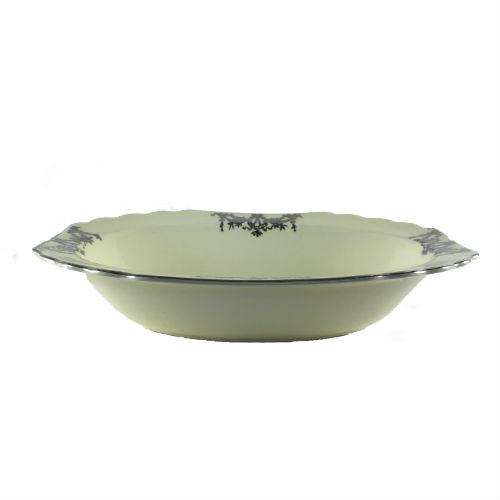 Vintage Vegetable Bowl WS George Lido Canarytone Platinum Swags Floral Side