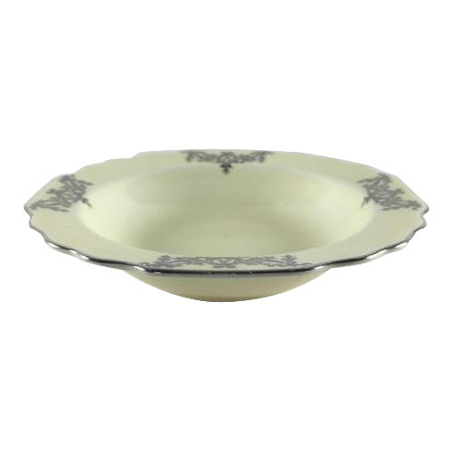 Vintage Small Fruit Bowl WS George Lido Canarytone Platinum Swags Floral