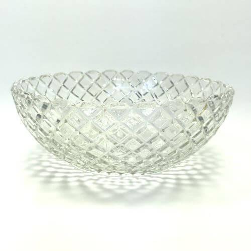 Vintage Depression Glass Waterford Clear Anchor Hocking Large Fruit Serving Bowl