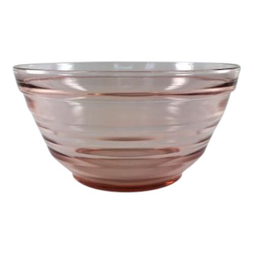 Vintage Pink Glass Mixing or Fruit Bowl