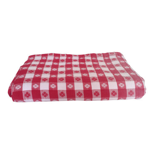 Vintage Large Red Picnic Plaid Tablecloth 98x52