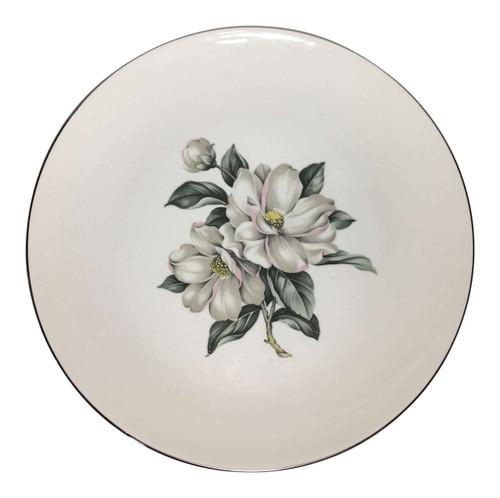 Vintage Homer Laughlin White Magnolia Rhythm Dinner Plate