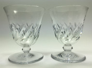 Baccarat Beauchene Short Stem Crystal Liquor Cocktail Glass Set of 2