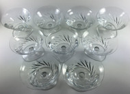 Baccarat Beauchene Short Stem Champagne Sherbet Glass Set of 9