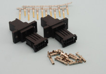 Pair 6 Pin Wing Connector Plug & Socket