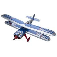 STEEN SKYBOLT BIPLANE FOR 15CC ENGINES (SILVER / BLUE) (1550mm WING SPAN