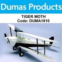 DUMAS 1810 35 INCH TIGER MOTH R/C ELECTRIC POWERED