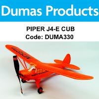 DUMAS 330 PIPER J4-E CUB COUPE 30 INCH WINGSPAN RUBBER POWERED