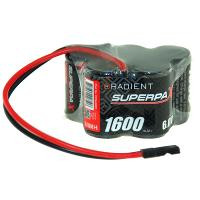 RADIENT SUPERPAX NIMH BATTERY 2/3A 6V 5-CELL 1600MAH 3-2 HUMP RECEIVER PACK