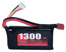 BATTERY,11.1v LIPO, 1300MAH 25C, FLIGHT