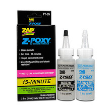 ZAP Z-POXY 15 MINUTE EPOXY 4 oz. Zap 15 MInute Epoxy