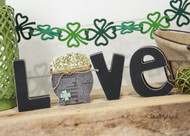 "Unfinished ""O"" Letter - LOVE Series (Pot of Gold)"