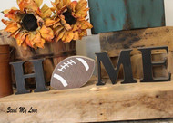 "Football - Unfinished ""O"" Letter - HOME & LOVE Series"