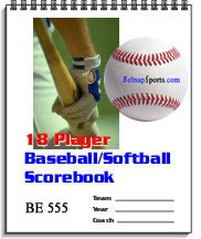 Belnap Sports Baseball/Softball18 Player Scorebook-Qty 100