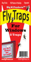 Window Fly Traps - 5 traps