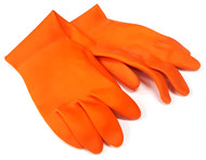 Orange Latex Gloves  - Med-Large-XL