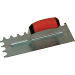 11 X 4 1/2 Notched Trowel-Soft Grip Handle; 1/4 X 3/8 X 1/4 U