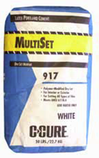 C-Cure 917 Multiset White 50# polymer-modified dry-set mortar