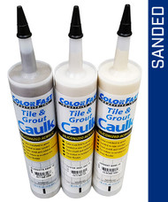 Color Fast Caulking. We carry all available colors and brands in sanded and non-sanded. In all major caulking brands including Bostik/Hydroment, C-Cure, Custom Building, Mapei, and TEC.