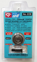 Ishii 22x Titanium Coated Cutting Wheel - FREE SHIPPING