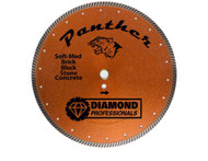 "Angle Grinder  Diamond Turbo Blade, 5"" Panther dry/wet ships free"