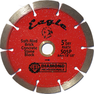 """5"""" Eagle dry/wet segmented blade - FREE SHIPPING"""
