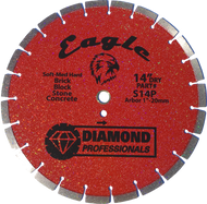 "14"" Eagle Dry Segmented Blade - Tile Tools"