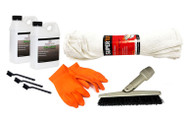 Grout Cleaning Restoration Kit - 2 qts Balance - 3 hand grout brushes - 1 pair orange gloves - 6 terry cloth towels - 1 grout brush