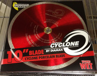 "10"" Tile Saw Blade - Wet Dry Tile Saw Blade - Diamax Cyclone Turbo Porcelain Tile Blade  Free Shipping"